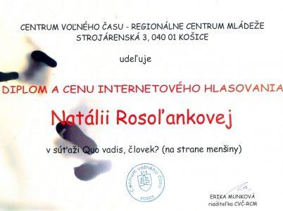 Natália Rosoľanková – Centrum voľného času Košice0001